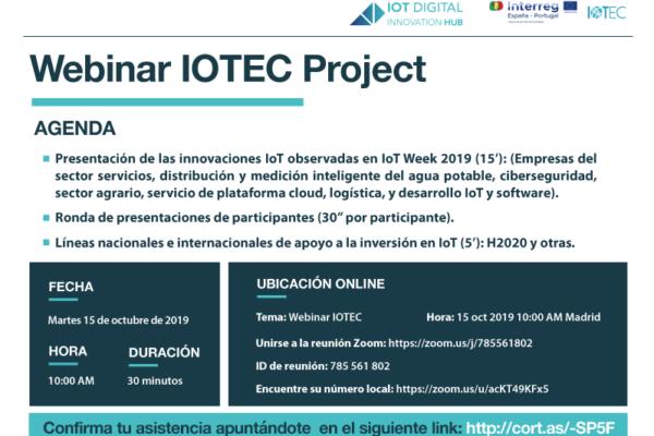 Webinar IOTEC Project